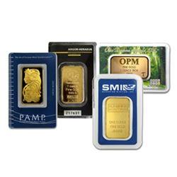 Investor's Lot - (4) Random 1 oz. Gold Bars 4 oz.s