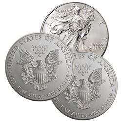 (3) Random Date US Silver Eagles -