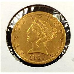 1897 S $ 5 Gold Liberty