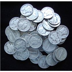 Lot of (50) Mercury Dimes
