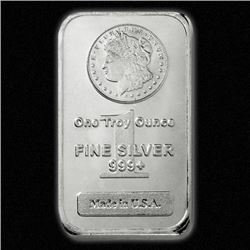 (100) Morgan Design Silver Bars - 999 Pure