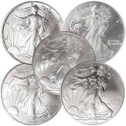 1-oz. Silver Eagle 5 Different, BU