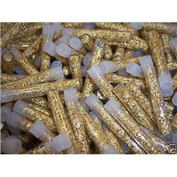 (100) Gold Leaf Flakes Vials-NON Bullion