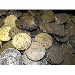 (100) Peace Silver Dollars - ag-vg