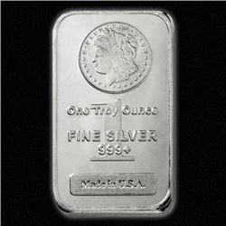 (100) Morgan Design Silver Bars - 999 Pure