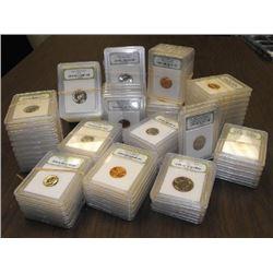 (100) MS 60-70 slabbed US Coins - INB