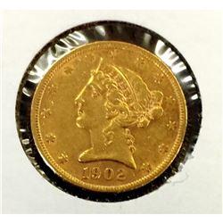 1902 S $5  Gold Liberty