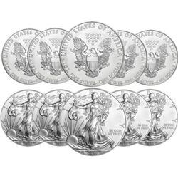 (10) US Silver E agles - Random Dates
