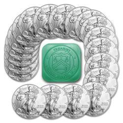 (20) Mint Sealed US Silver Eagles Random Dates