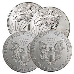 (4) US Silver Eagle Random Dates