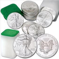 (40) US Silver Eagles Random Dates 2 rolls