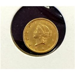 Nice $ 1 Gold Liberty 1853 Type I