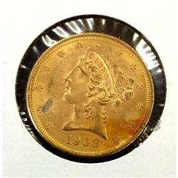 1903 $ 5 Gold Liberty