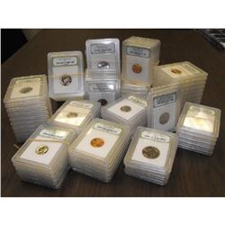 (50) INB Graded BU and Proof Coins