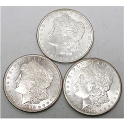 1878-79-81 S Mint BU Morgan Dollars