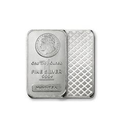 1 oz. Silver Bar Morgan Design Bar