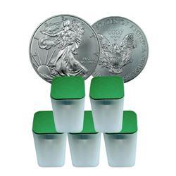 (100) US Silver Eagle Bullion Coins -  Random Date