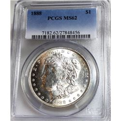 1888 MS 62 PCGS Morgan Dollar