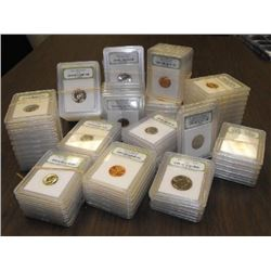Lot of 100  BU and Proof INB Coins