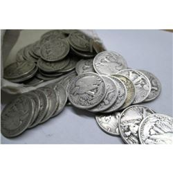 37 pcs. Walking Liberty Half Dollars in Bag