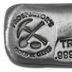 1  oz. Silver Prospector Bar -.999