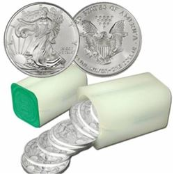 (40) US Silver Eagles - Random Date Mint Tubed