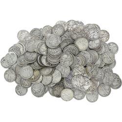 155 Walking Liberty Half Dollars- 90% Silver
