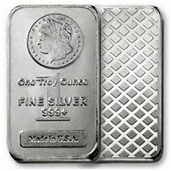 1 oz. .999 Silver Morgan Design Bar