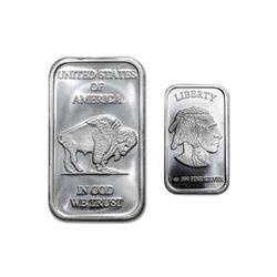 1 oz. Buffalo Design Silver Bar