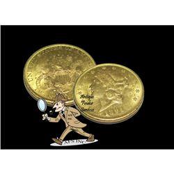 1894 S $20 Gold Liberty Double Eagle AU Grade