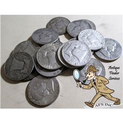 20 pcs. Franklin Half Dollars -90% Silver