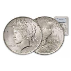 1922 MS 64 PCGS Peace Silver Dollar