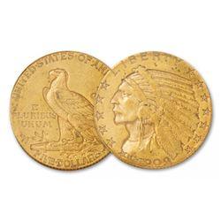 1909 P $5 Gold Indian Half Eagle XF AU