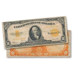 1922 $10 Gold Certificate VG-F Grade