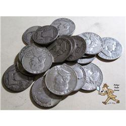 20 pcs. Franklin Half Dollars 90% Silver