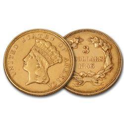 1856 $3 Gold Princess VG-XF Grade