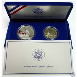 1986 2 Coin State of Liberty Commemorative