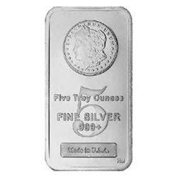 5 oz. Morgan Design Silver Bar -.999 Pure