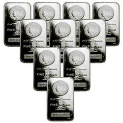 (10) 1 oz. Morgan Design Silver Bars