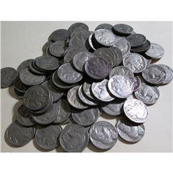 (50) Readable Date Buffalo Nickels