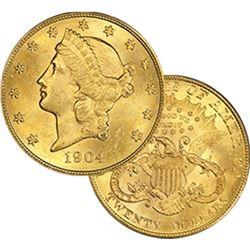 1904 P BU  $20 Gold Liberty Double Eagle