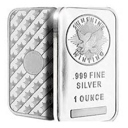 1 oz. Silver Bar - Sunshine Mint - Pure .999