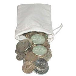 Canvas Bank Bag w/ $50 Face Value 90% Silver