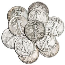 (10) Walking Liberty Half Dollars 90% Silver