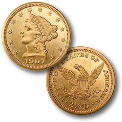 1907 $2.5 Gold Liberty Quarter Eagle BU