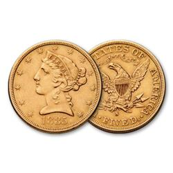 1885 s $5 Gold Liberty Half Eagle