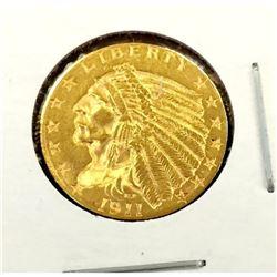 1911 $2.5 Gold Indian Quarter Eagle