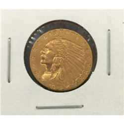 1912 $ 2.5 Gold Indian Quarter Eagle