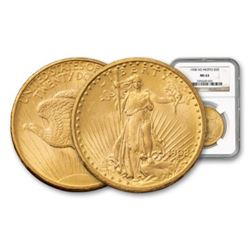 1908 NM MS 63 NGC $20 Gold Saint Gaudens