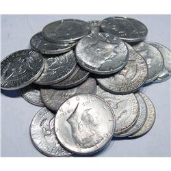 (20) Kennedy Half Dollar 1964 90% Silver